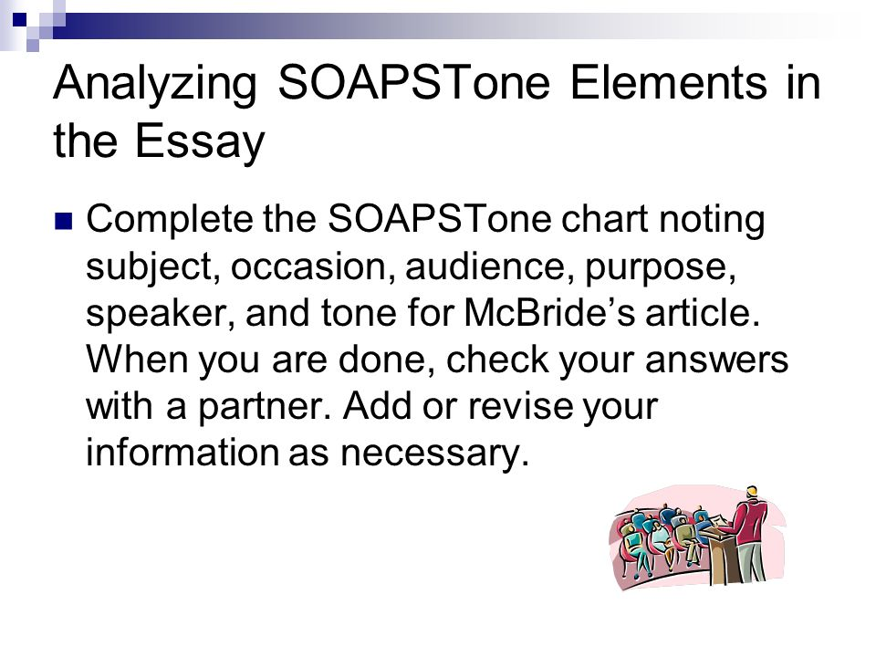 Identifying the tone of an essay