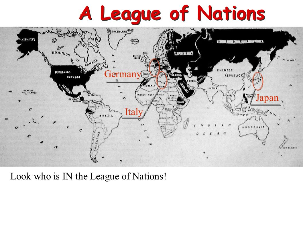 A League of Nations Germany Japan Italy