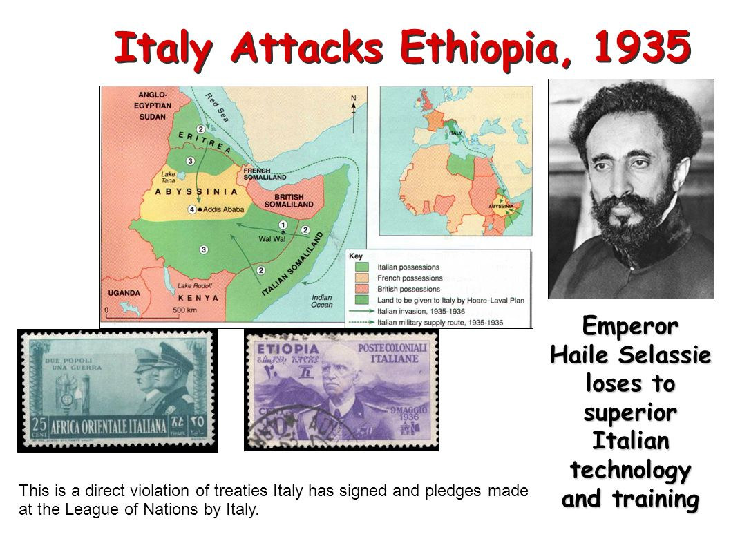 Italy Attacks Ethiopia, 1935