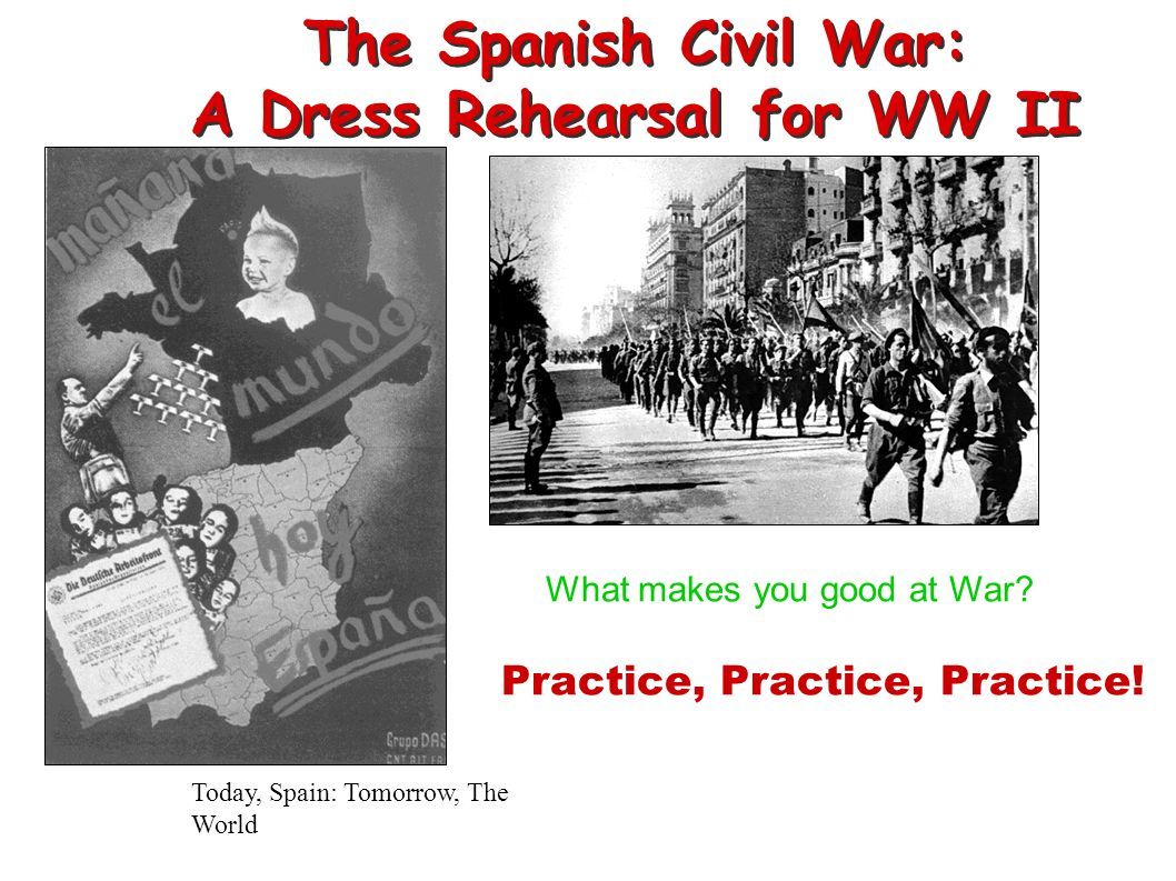 The Spanish Civil War: A Dress Rehearsal for WW II