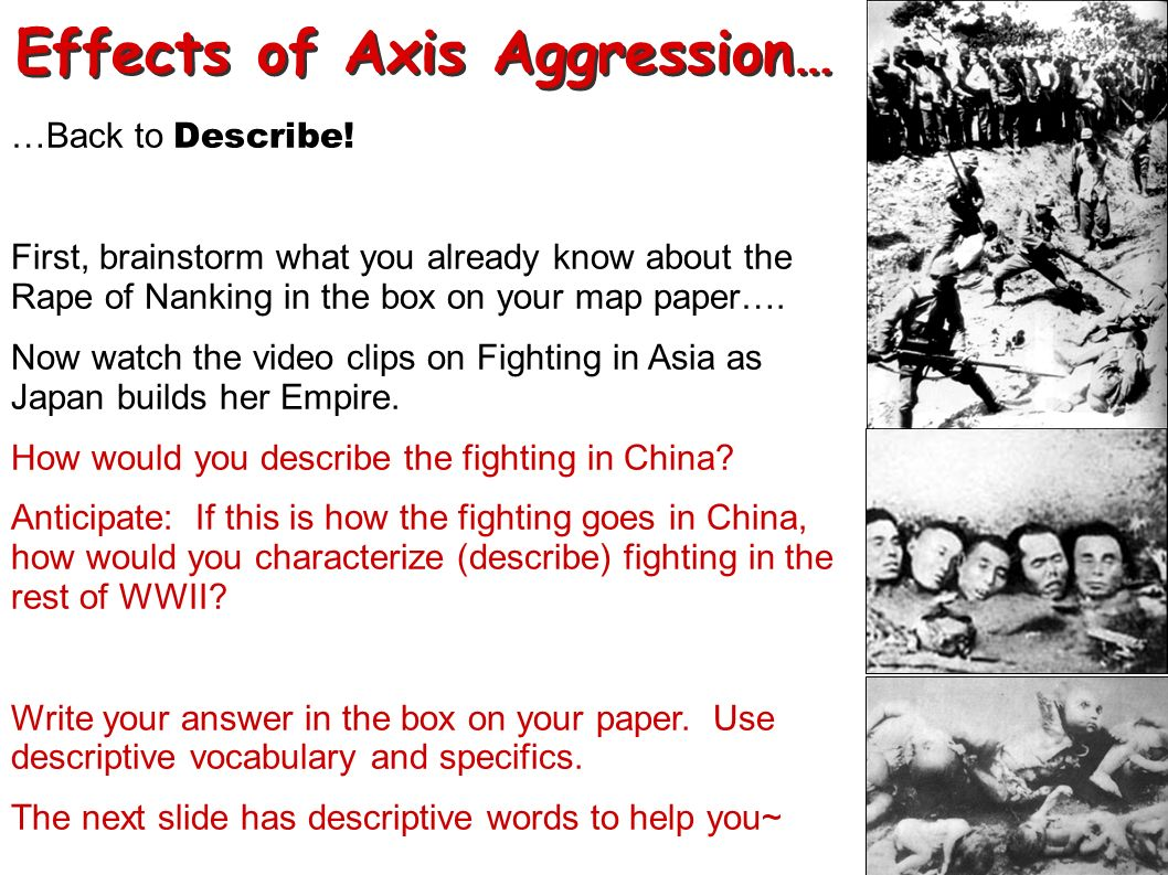 Effects of Axis Aggression…