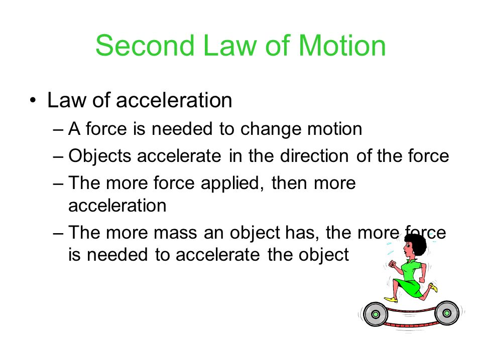 Second Law of Motion Law of acceleration