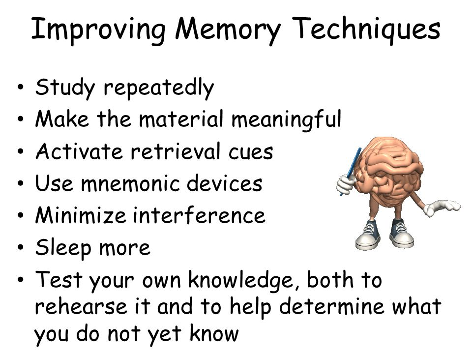 Improving Memory Techniques