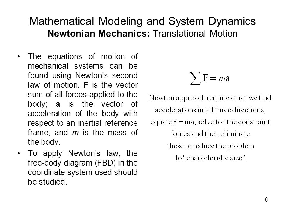 mathematical modelling of mechanical systems pdf