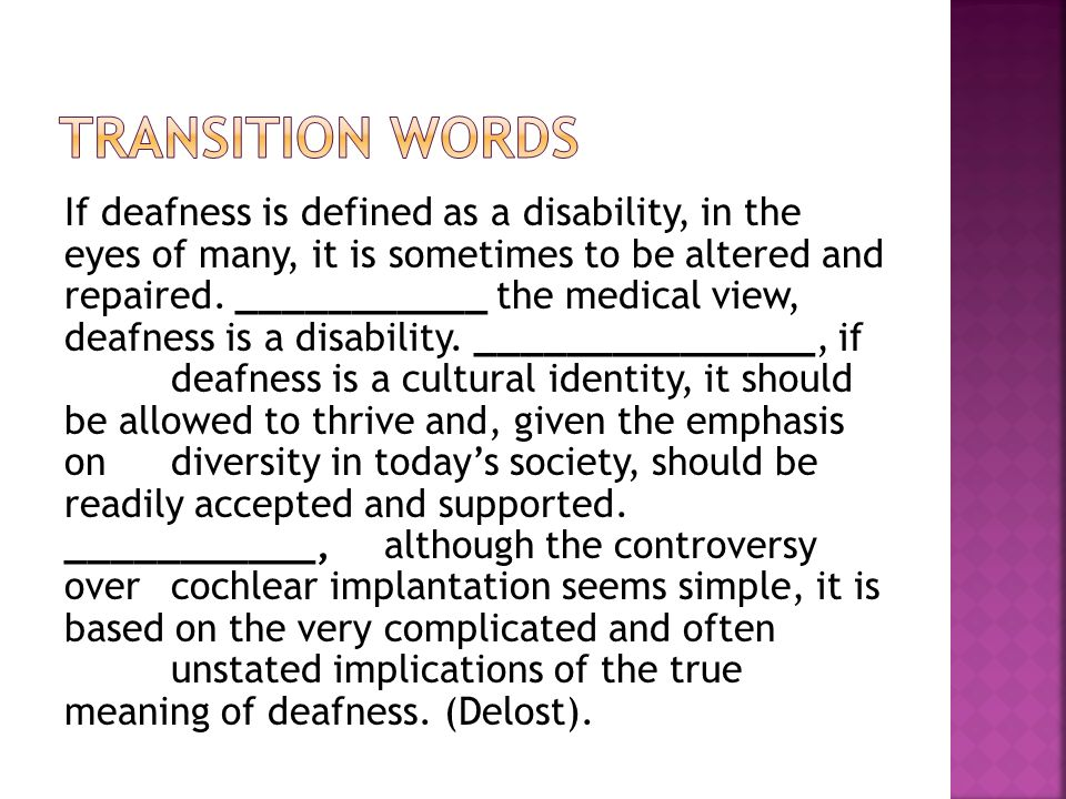Essay on Deaf Culture and Deaf Language
