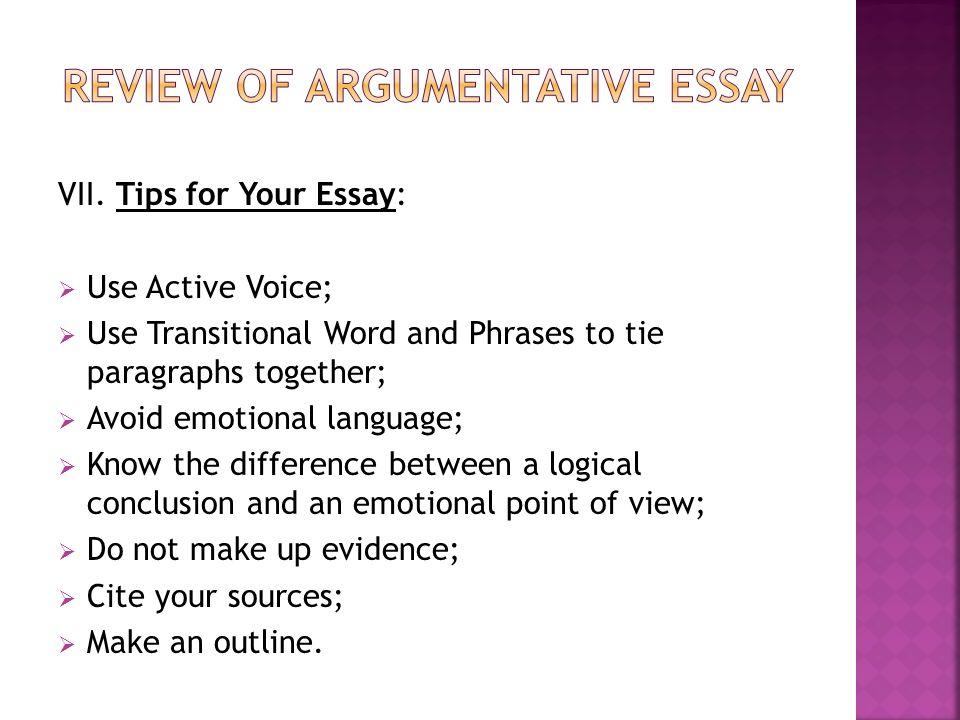 Argumentitive Essay