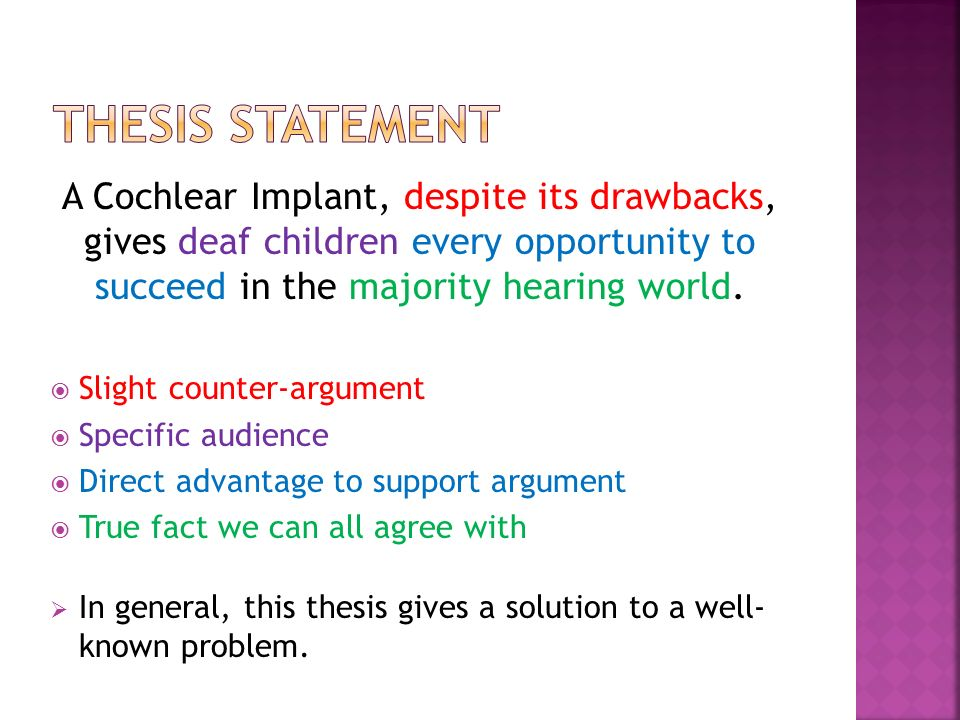 counter argument thesis statement