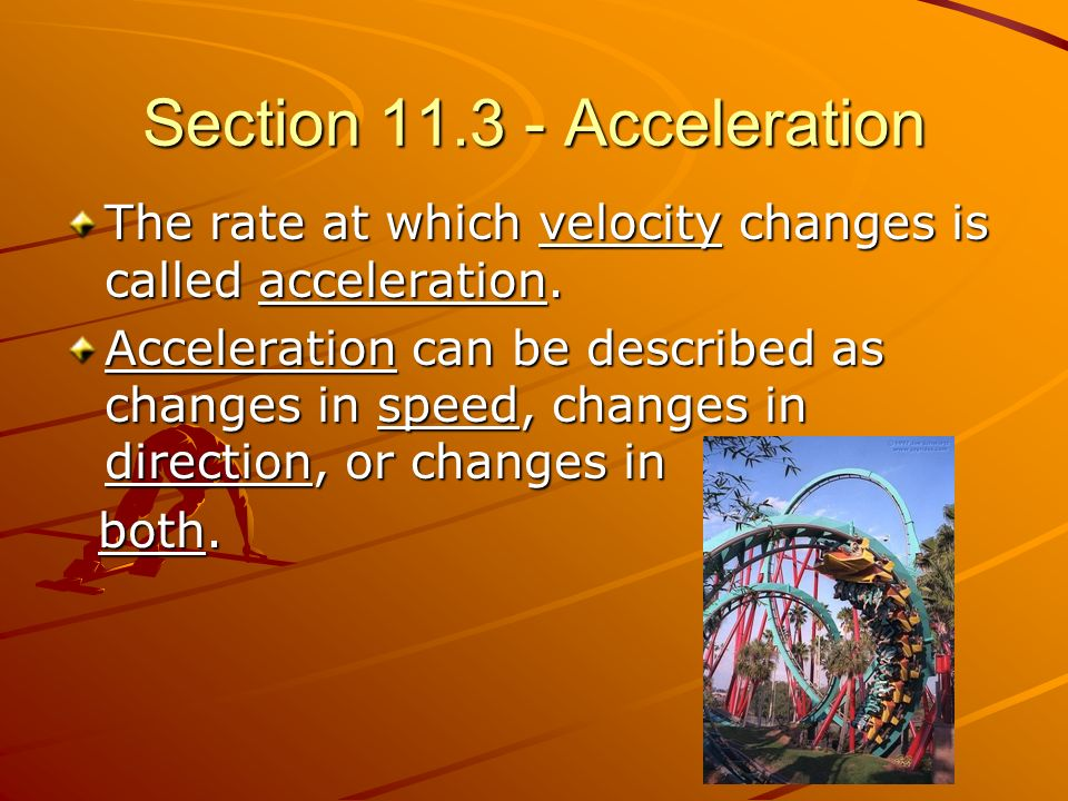 Section Acceleration