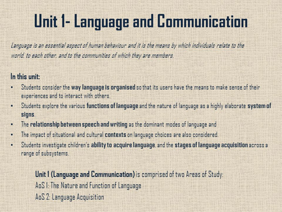 illustrate the relationship of speech language and communication