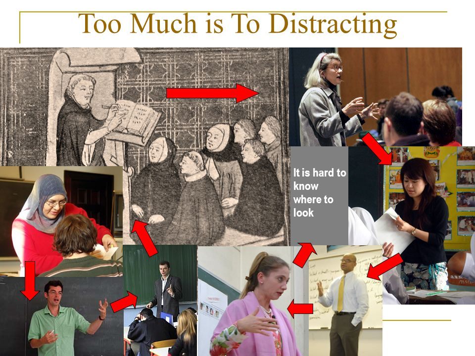 Too Much is To Distracting