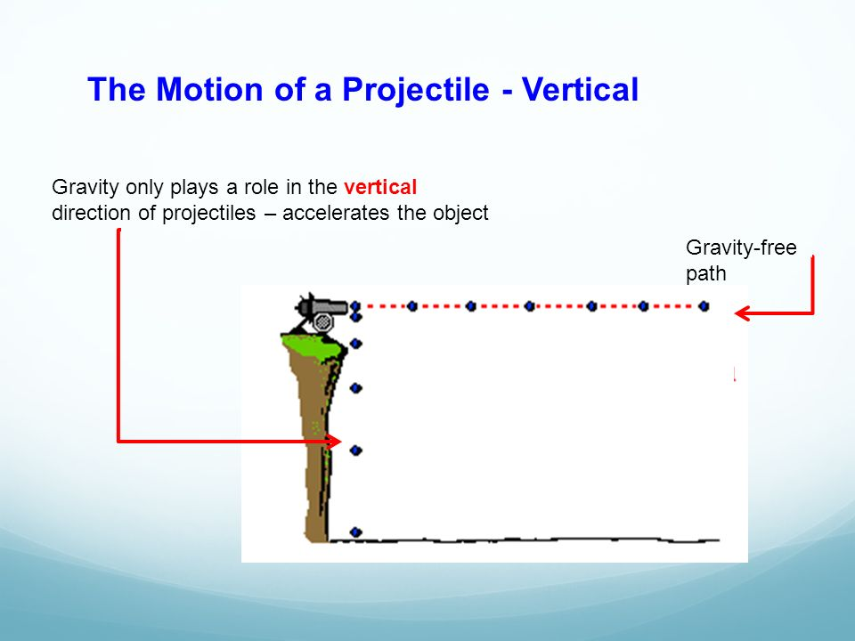 The Motion of a Projectile - Vertical