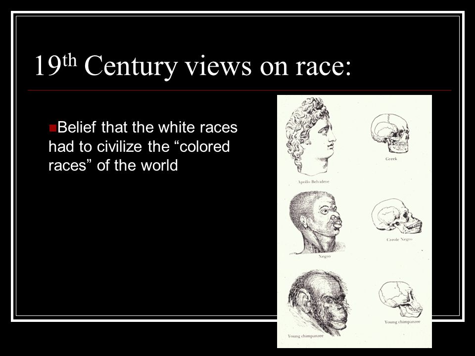 19th Century views on race: