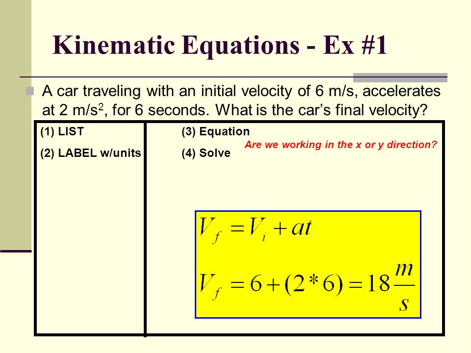 how to find initial velocity without time or final velocity