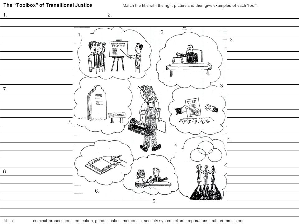 The Toolbox of Transitional Justice