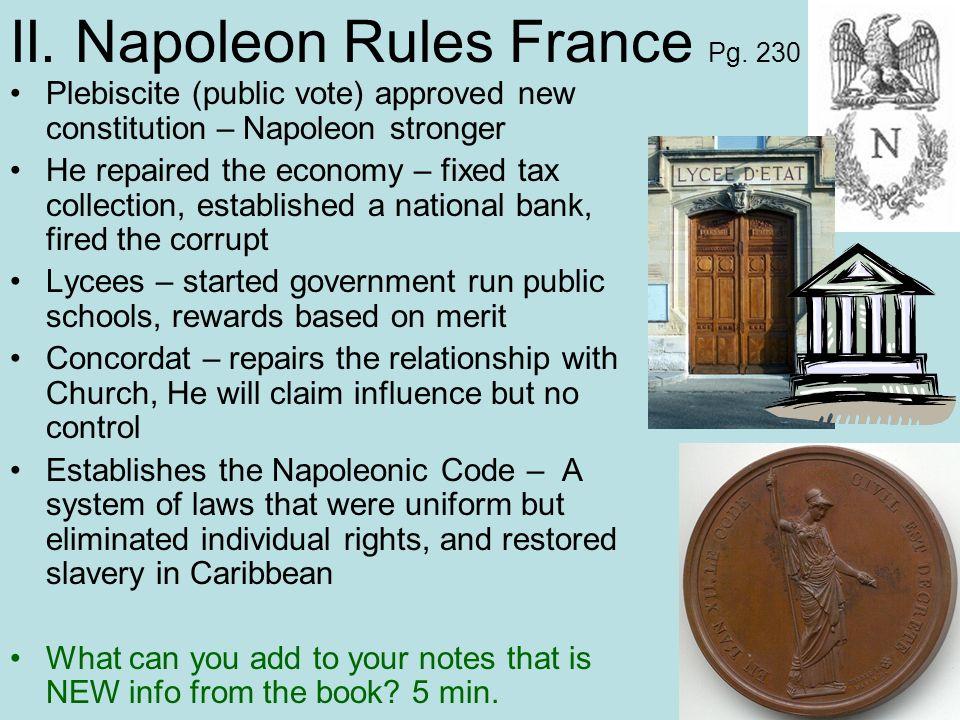 II. Napoleon Rules France Pg. 230