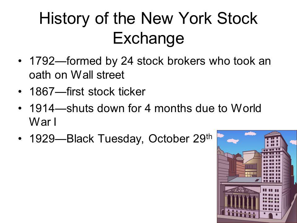 History of the New York Stock Exchange