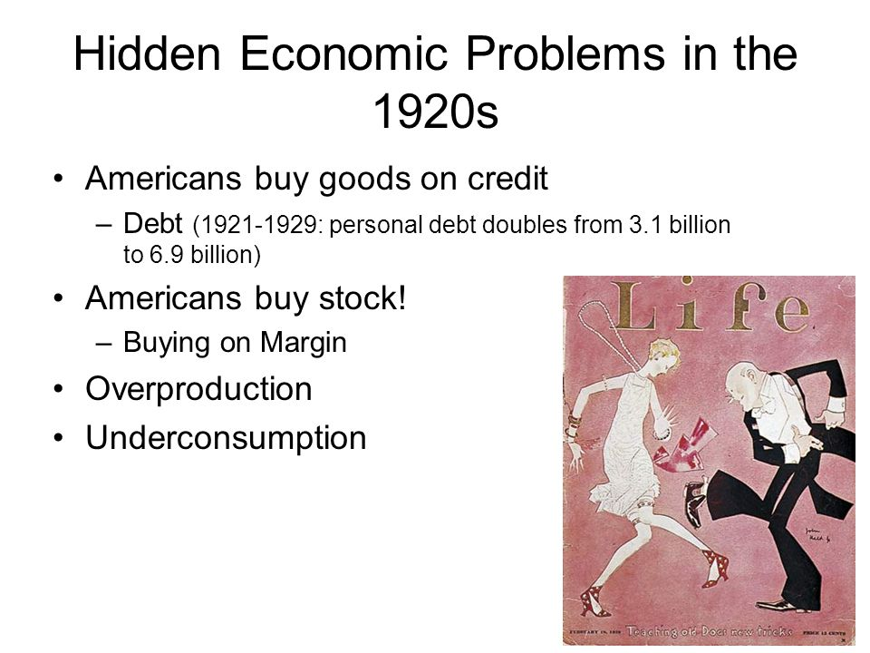 Hidden Economic Problems in the 1920s