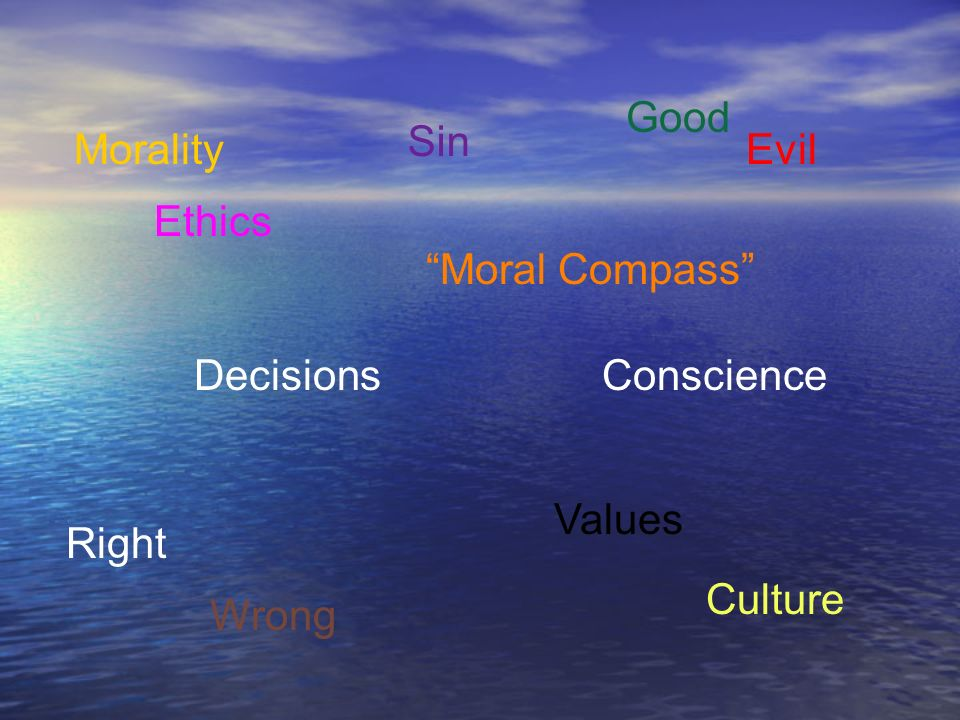 Good Sin Morality Evil Ethics Moral Compass Decisions Conscience Values Right Culture Wrong