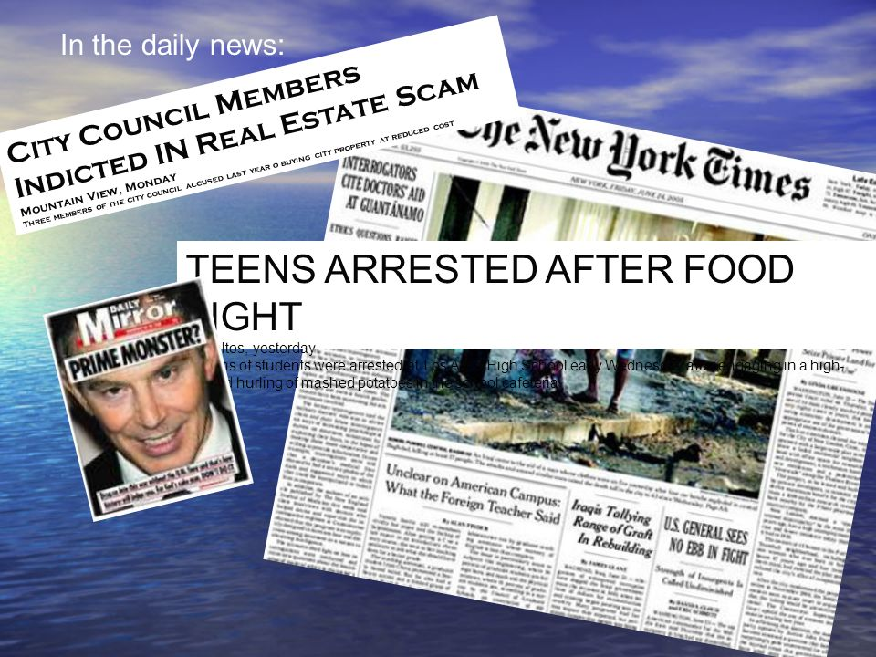 TEENS ARRESTED AFTER FOOD FIGHT