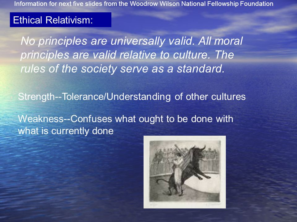 Information for next five slides from the Woodrow Wilson National Fellowship Foundation