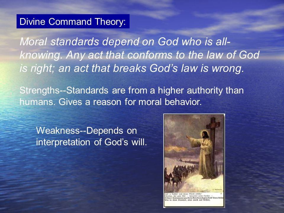 Divine Command Theory: