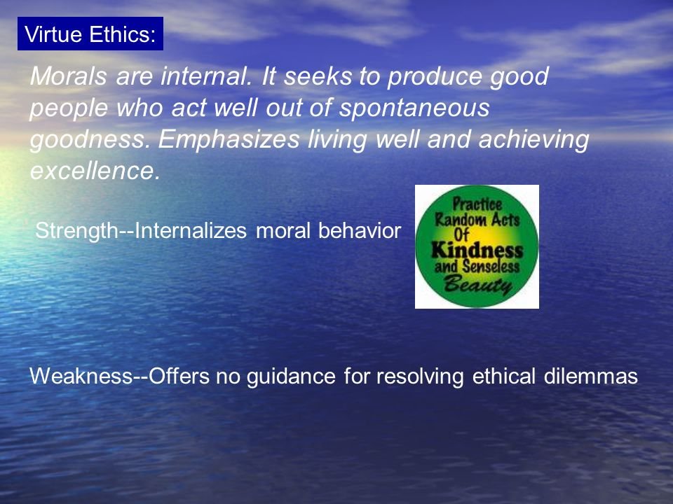 Virtue Ethics:
