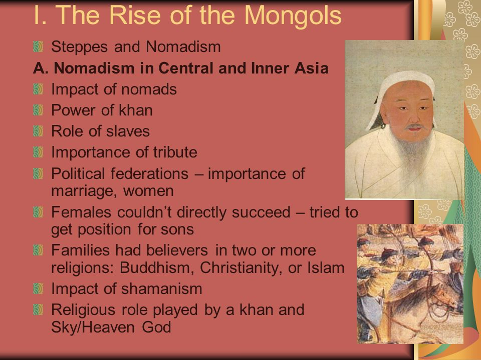 I. The Rise of the Mongols