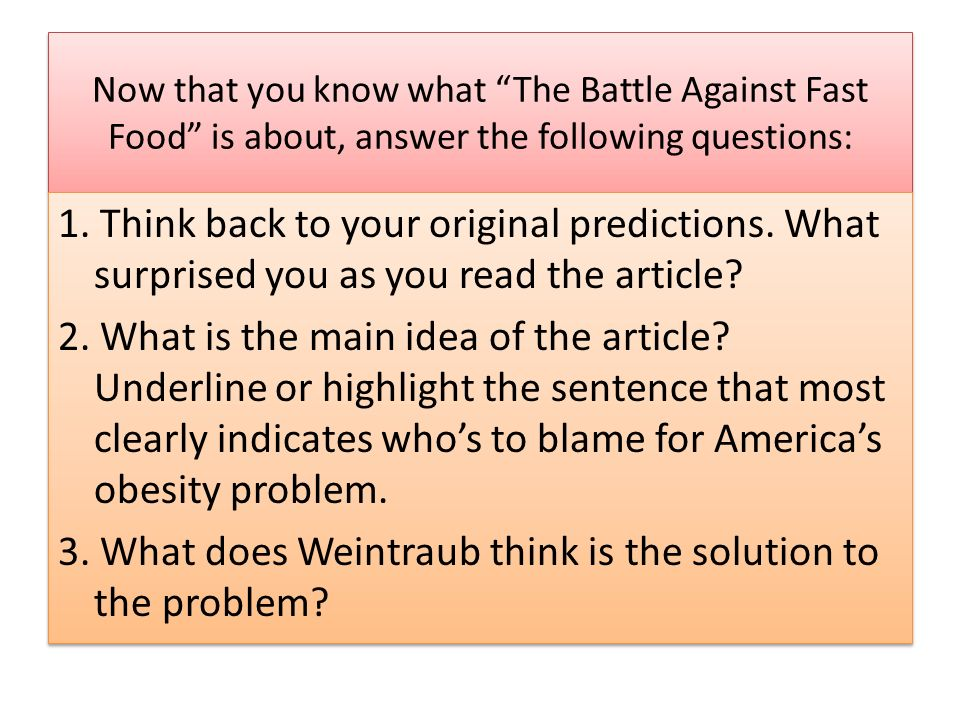 3. What does Weintraub think is the solution to the problem