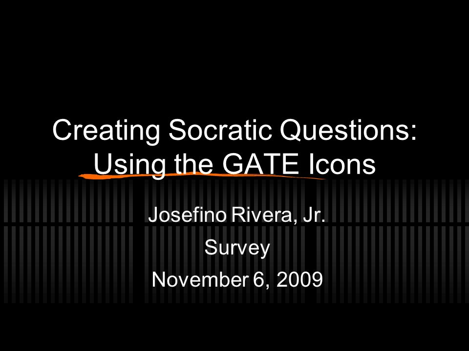 Creating Socratic Questions: Using the GATE Icons
