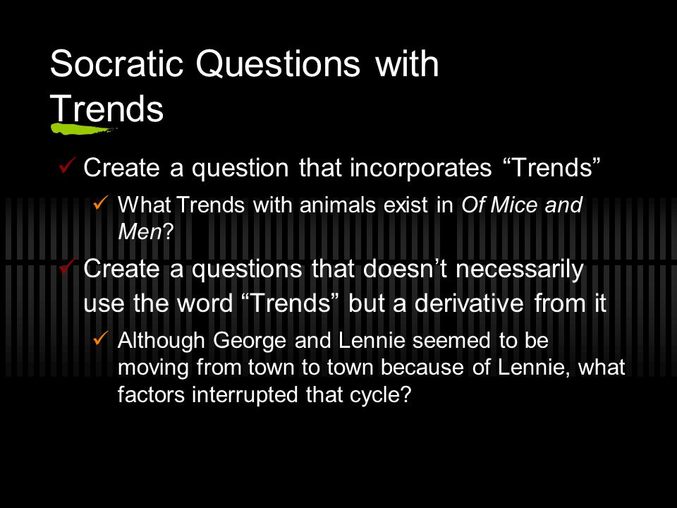 Socratic Questions with Trends