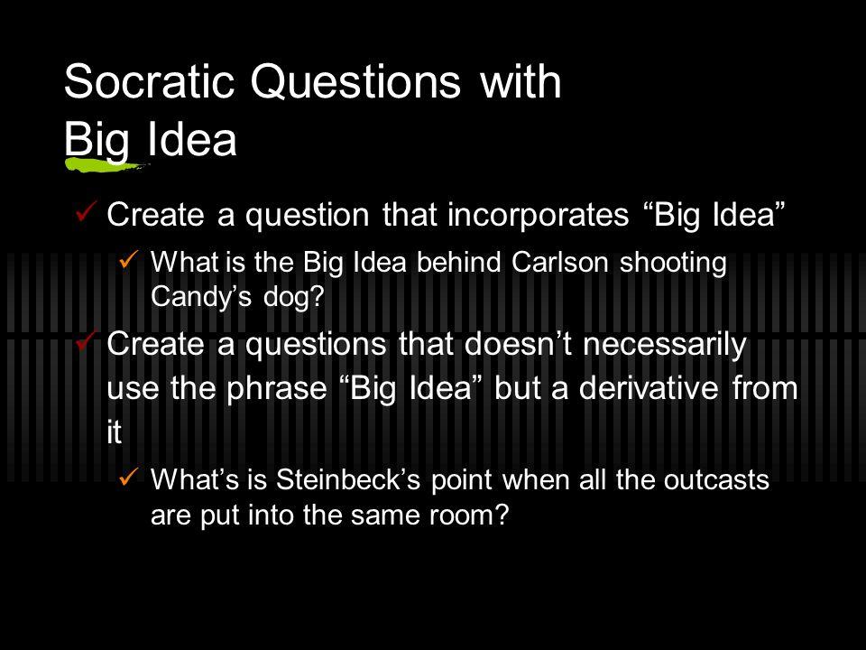 Socratic Questions with Big Idea