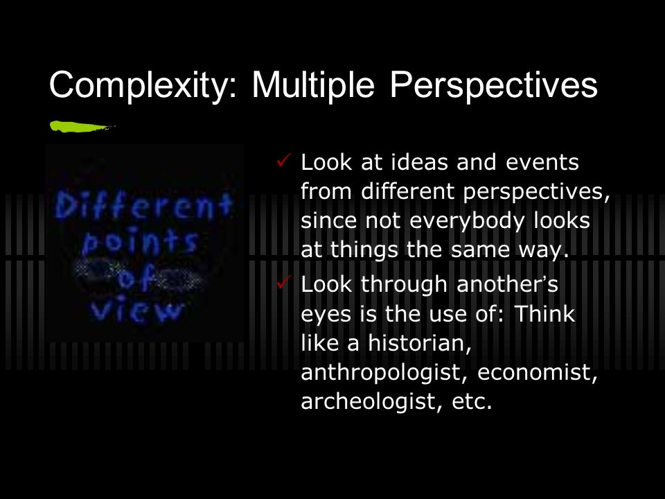 Complexity: Multiple Perspectives