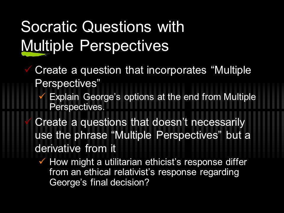 Socratic Questions with Multiple Perspectives