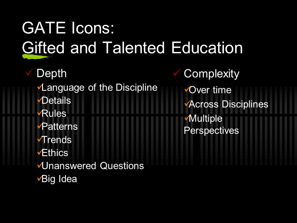 GATE Icons: Gifted and Talented Education