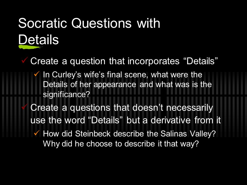 Socratic Questions with Details