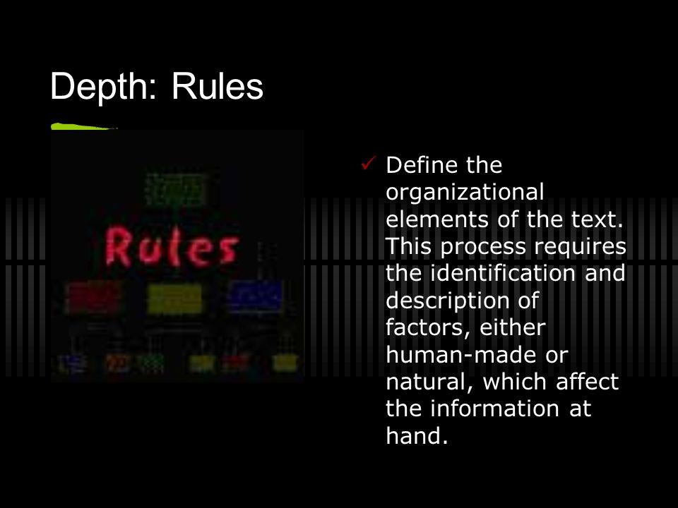 Depth: Rules