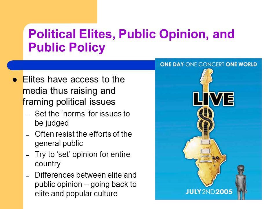 Political Elites, Public Opinion, and Public Policy