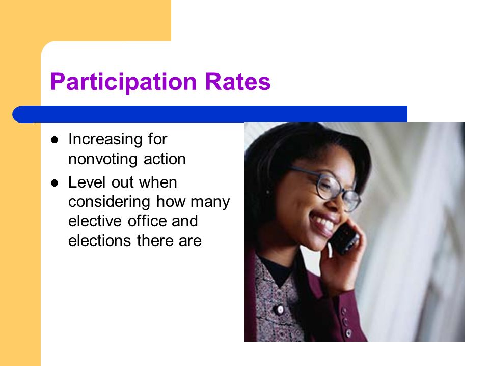 Participation Rates Increasing for nonvoting action