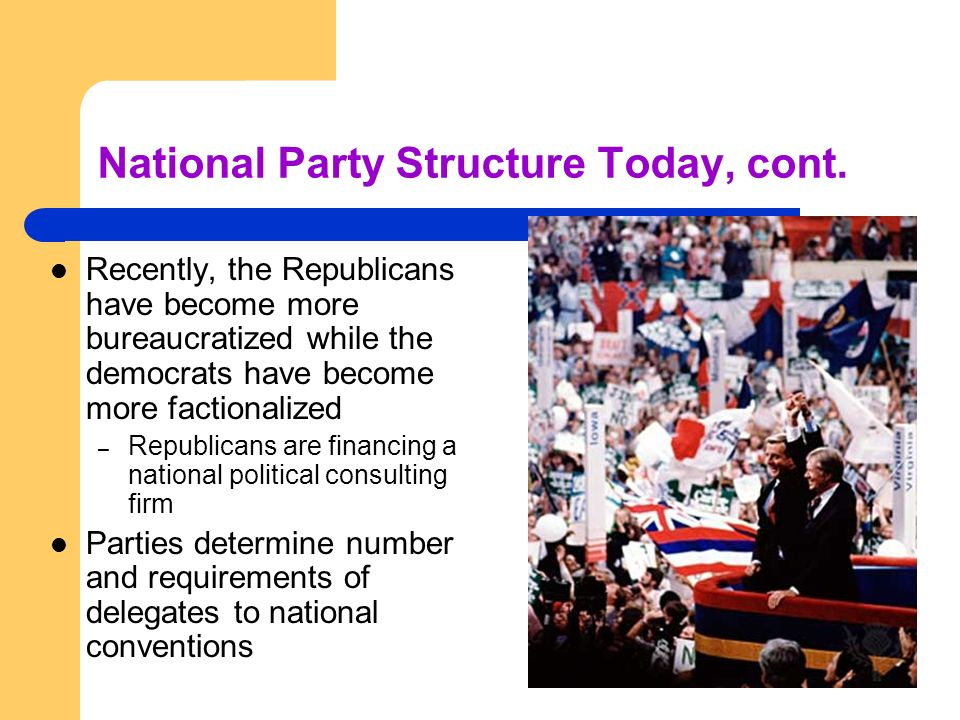National Party Structure Today, cont.