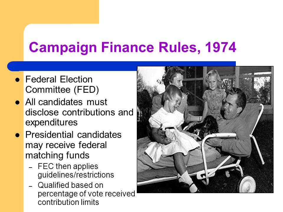 Campaign Finance Rules, 1974