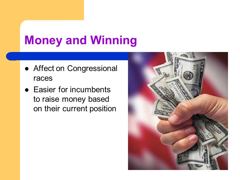 Money and Winning Affect on Congressional races