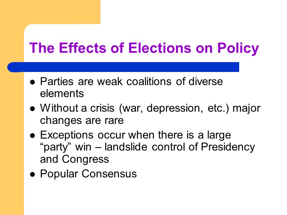 The Effects of Elections on Policy