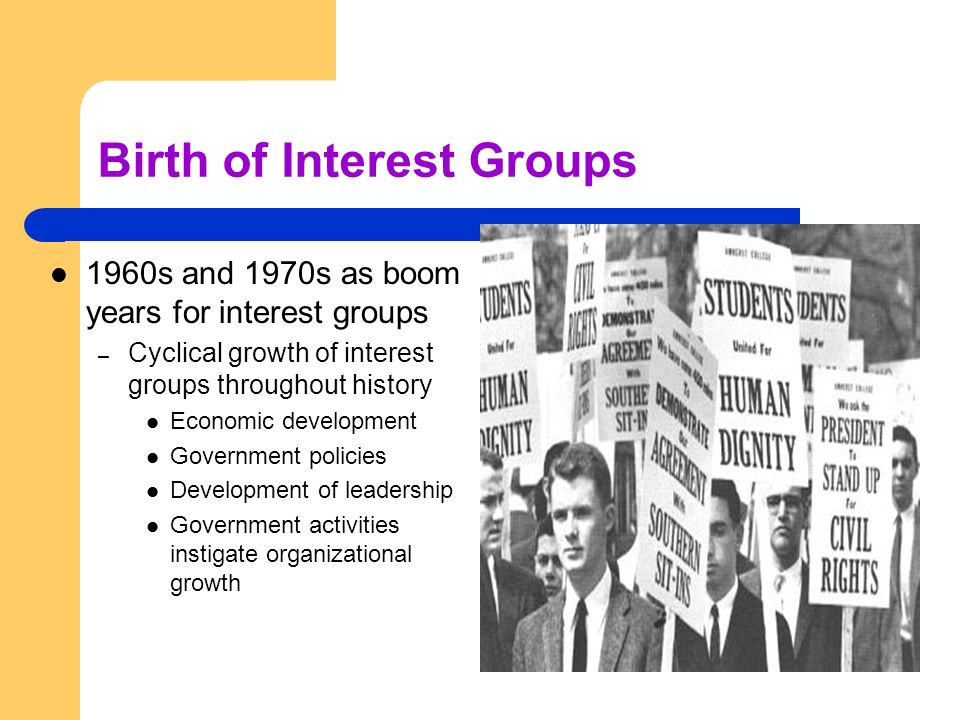 Birth of Interest Groups