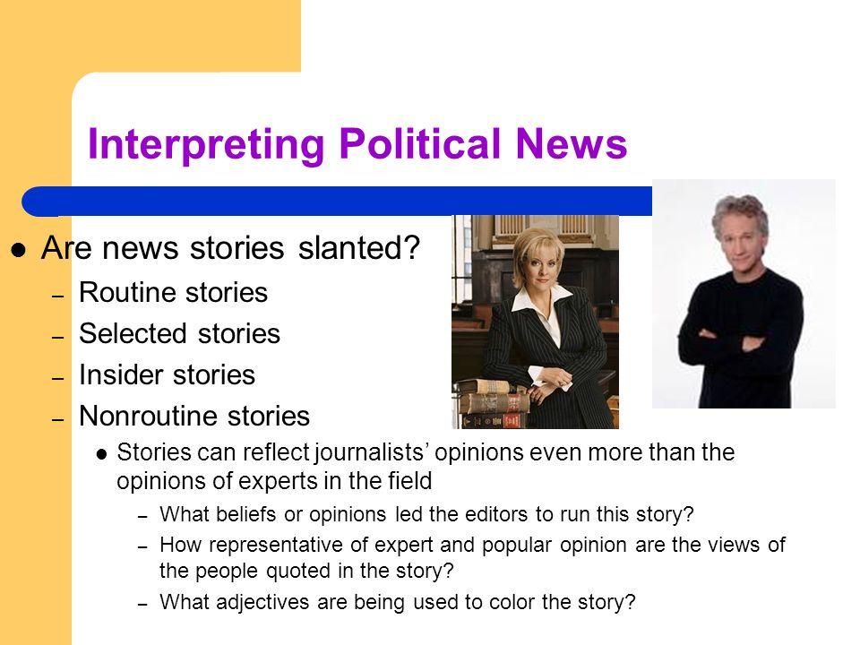 Interpreting Political News