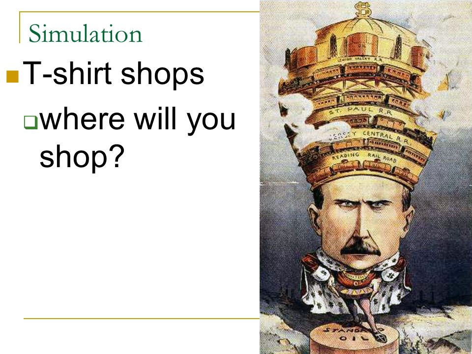 Simulation T-shirt shops where will you shop