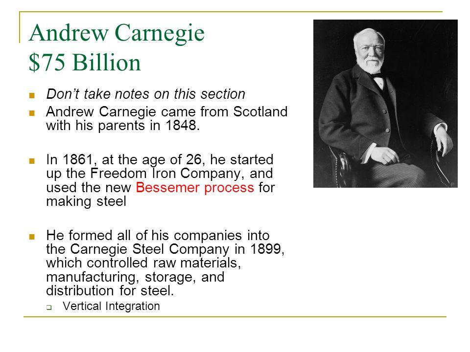 Andrew Carnegie $75 Billion