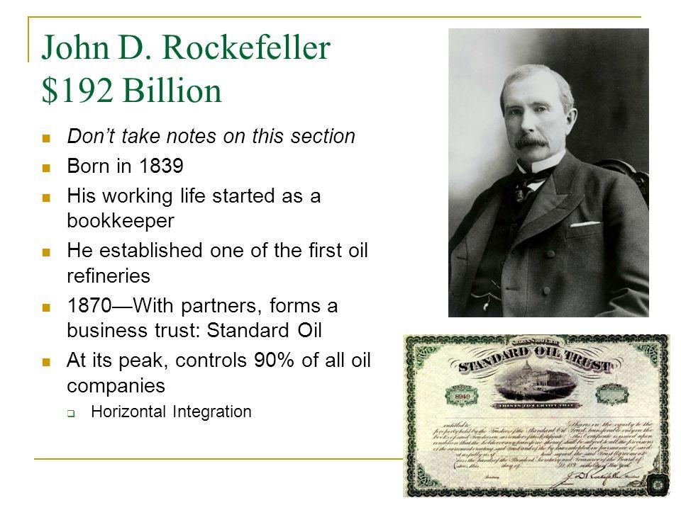 John D. Rockefeller $192 Billion