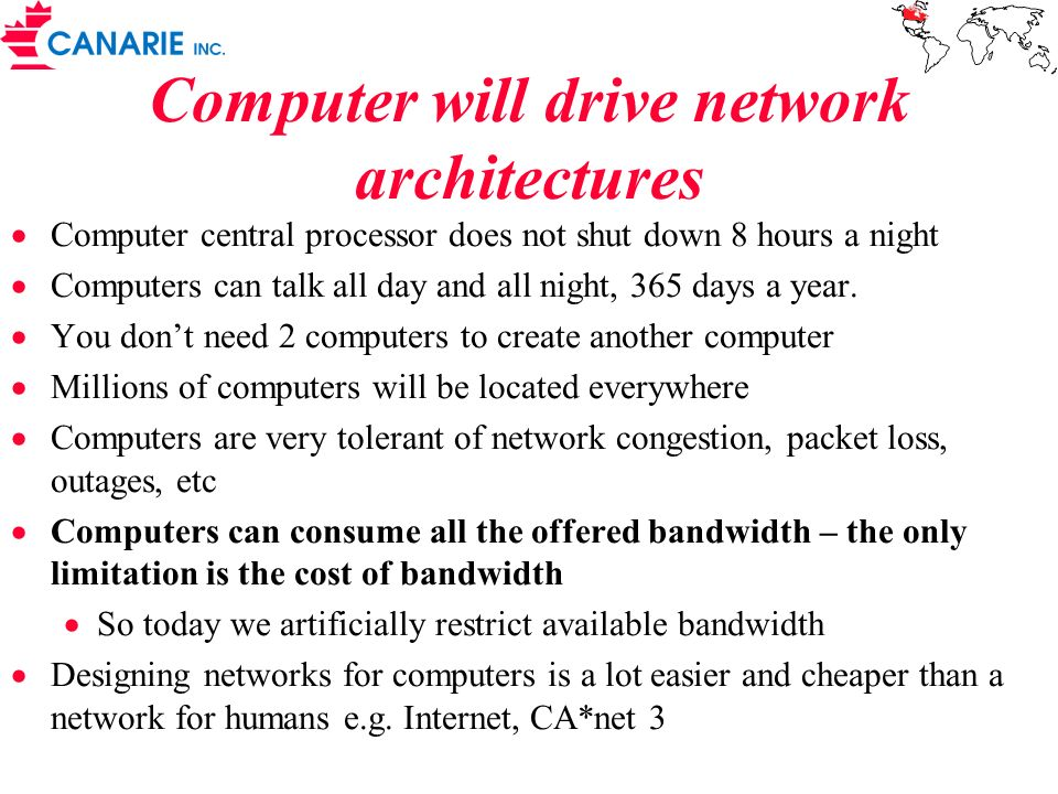 Computer will drive network architectures
