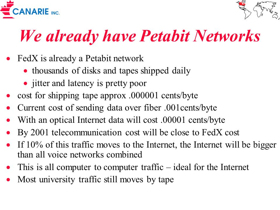We already have Petabit Networks