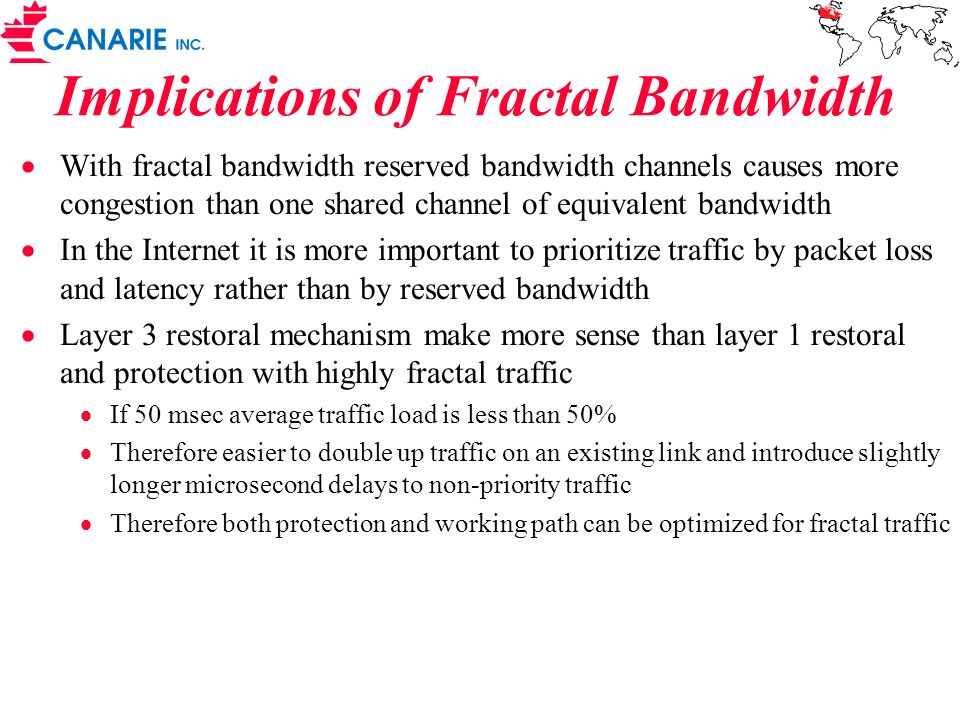 Implications of Fractal Bandwidth